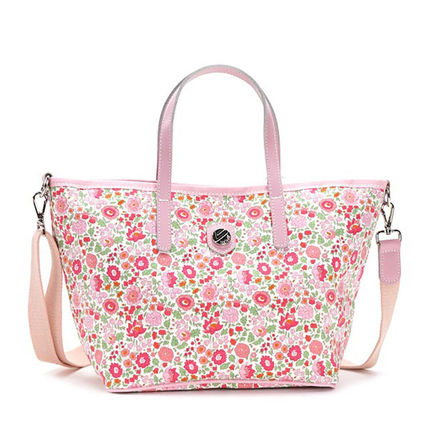 Flower Patterns Casual Style Shoulder Bags