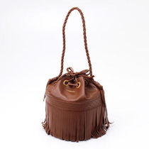 J & M Davidson Carnival Plain Leather Fringes Shoulder Bags