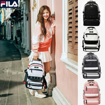 FILA Casual Style Unisex Nylon Plain Backpacks