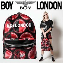 BOY LONDON Casual Style Unisex Nylon Street Style Chain