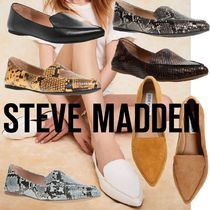 Steve Madden Plain Other Animal Patterns Python Flats