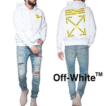 Off-White Pullovers Sweat Street Style Long Sleeves Oversized Hoodies