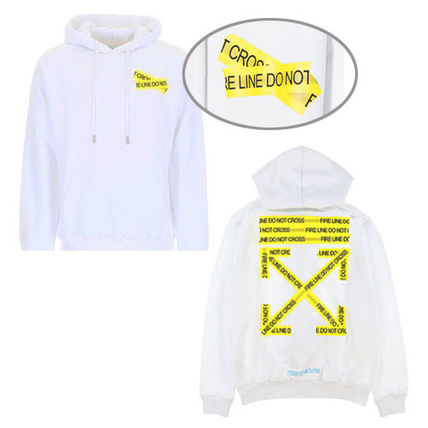 Off-White Hoodies Crew Neck Pullovers Sweat Street Style Long Sleeves 3