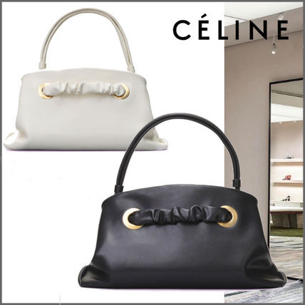 5c245c31e9 CELINE 2018 SS Calfskin Plain Party Style Handbags (184773A8X.38NO ...