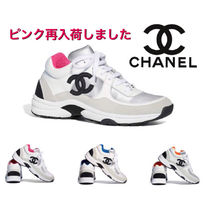 CHANEL SPORTS Plain Toe Casual Style Plain Leather Low-Top Sneakers