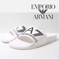 EMPORIO ARMANI Street Style Shower Shoes PVC Clothing Shower Sandals