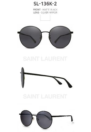 2c66f96a21 ... Saint Laurent Sunglasses Round Sunglasses 6 ...
