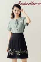 Miss Patina Other Animal Patterns Cotton Short Sleeves Shirts & Blouses