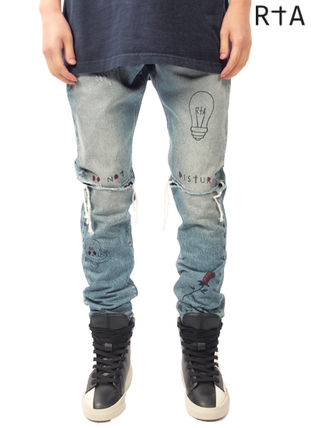 Street Style Cotton Skinny Fit Jeans & Denim