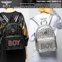BOY LONDON Casual Style Unisex Faux Fur Studded Backpacks