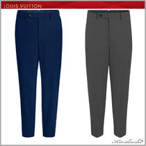 Louis Vuitton Tapered Pants Wool Plain Tapered Pants