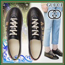 GUCCI Star Leather Sneakers