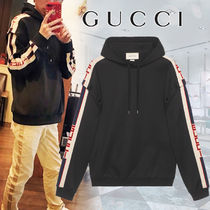 GUCCI Long Sleeves Plain Cotton Hoodies