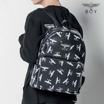 BOY LONDON Unisex Faux Fur Street Style Other Animal Patterns Backpacks