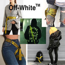 Off-White Unisex Nylon Street Style Oversized Long Belt Logo Belts