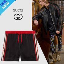 GUCCI Nylon Plain Joggers Shorts