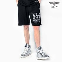 BOY LONDON Star Unisex Street Style Other Animal Patterns Cotton Shorts