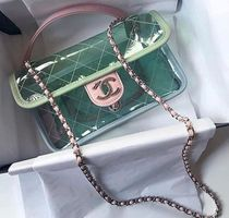 CHANEL Casual Style Plain PVC Clothing Handbags