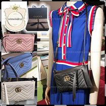 GUCCI Leather Party Style Shoulder Bags