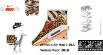 Nike AIR MAX 1 Leopard Patterns Unisex Street Style Collaboration Sneakers