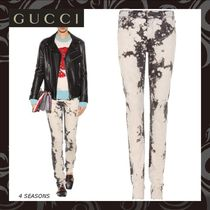 GUCCI Cotton Long Skinny Jeans