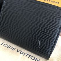 Louis Vuitton EPI Unisex Plain Leather Long Wallet  Coin Cases