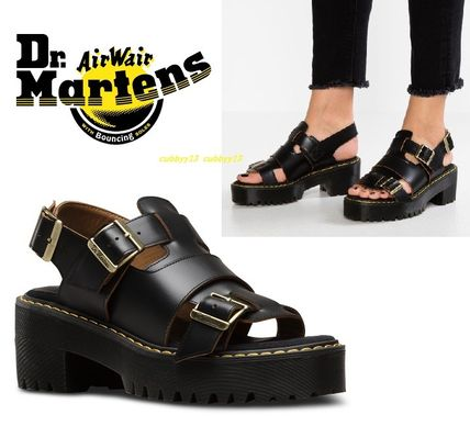 02707fdca66 ... Dr Martens Platform   Wedge Open Toe Platform Casual Style Street Style  Plain Leather ...