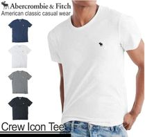 Abercrombie & Fitch Crew Neck Pullovers Plain Cotton Short Sleeves