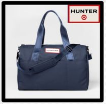HUNTER Unisex Street Style Collaboration A4 2WAY Plain PVC Clothing