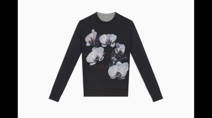 ... DIOR HOMME Sweatshirts Crew Neck Pullovers Flower Patterns Sweat Street  Style 2 ... 5048f3adedf