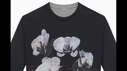 DIOR HOMME Sweatshirts Crew Neck Pullovers Flower Patterns Sweat Street  Style 4 ... cb0b1da1af0