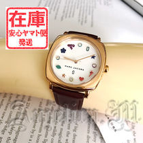 Marc by Marc Jacobs Casual Style Leather Round Quartz Watches Analog Watches