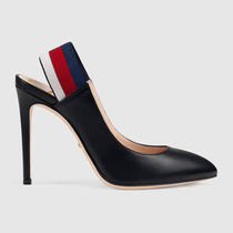 GUCCI Casual Style Plain High Heel Pumps & Mules