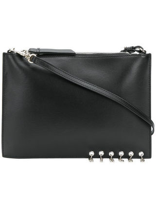 Studded Plain Leather Clutches