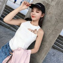 Crew Neck Short Casual Style Sleeveless Plain