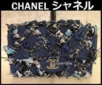 CHANEL ICON Blended Fabrics 3WAY Bi-color Chain Elegant Style
