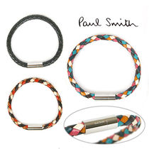 Paul Smith Bangles Other Check Patterns Unisex Blended Fabrics Leather