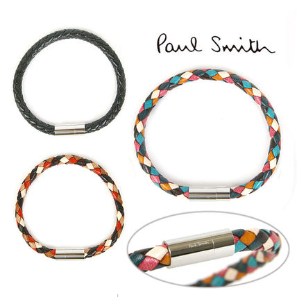 Bangles Other Check Patterns Unisex Blended Fabrics Leather