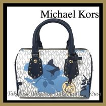Michael Kors Flower Patterns Casual Style 2WAY PVC Clothing Handbags