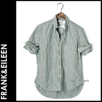 Frank&Eileen Stripes Casual Style Long Sleeves Cotton Medium