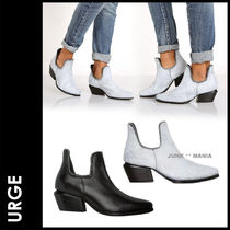Urge Plain Toe Street Style Plain Leather Elegant Style