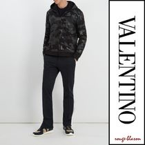VALENTINO Camouflage Street Style Long Sleeves Cotton Hoodies