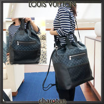 Louis Vuitton DAMIER COBALT Other Check Patterns Canvas Blended Fabrics Street Style A4