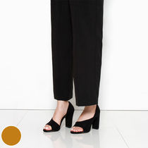 Wedge Open Toe Suede Plain Office Style