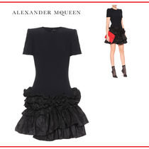 alexander mcqueen Crew Neck Short Short Sleeves Party Style Dresses