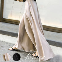 Chiffon Plain Long Elegant Style Bottoms