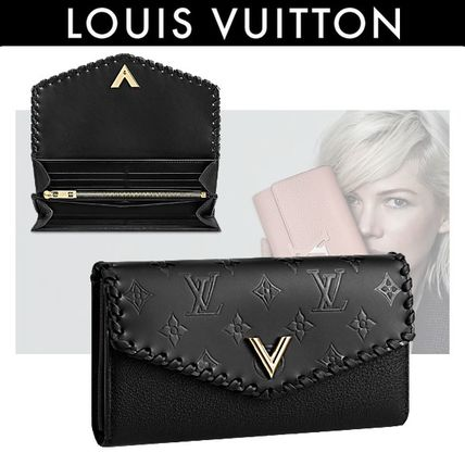 Louis Vuitton 2018 Ss Plain Leather Long Wallets By Connect Buyma