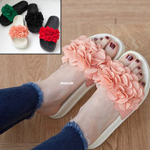 Open Toe Platform Casual Style Faux Fur Shower Shoes