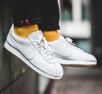 Nike CORTEZ Street Style Plain Leather Sneakers