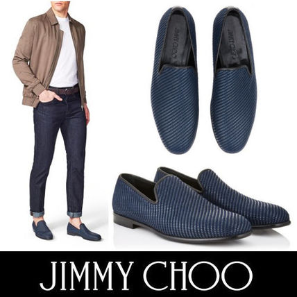 6d4f26f8836a ... Jimmy Choo Loafers   Slip-ons Plain Toe Street Style Plain Loafers ...